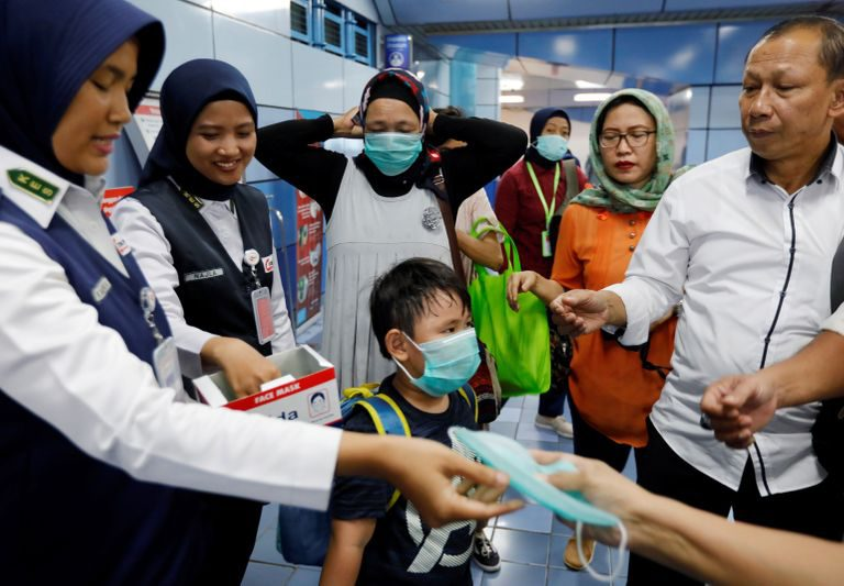 Indonesia fears panic buying after first coronavirus cases