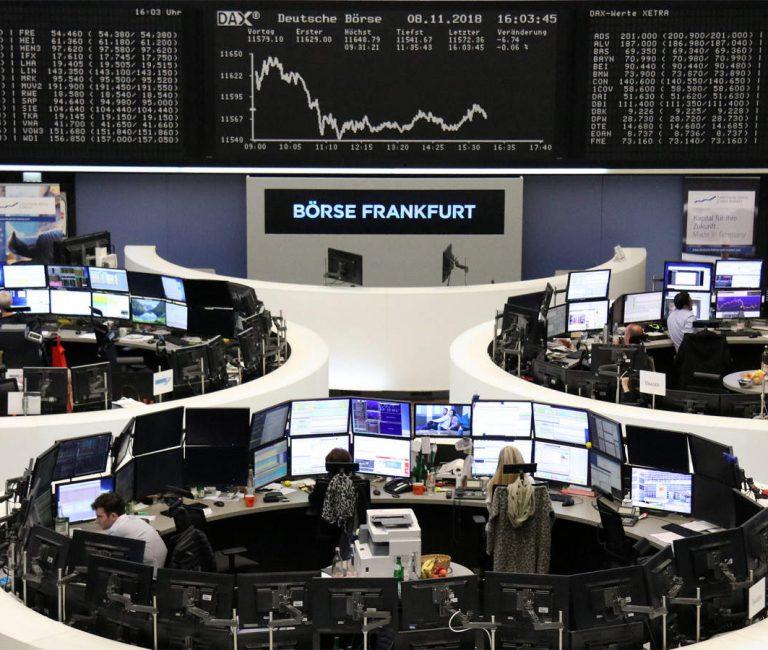 European shares trudge higher as stimulus wave stems selloff