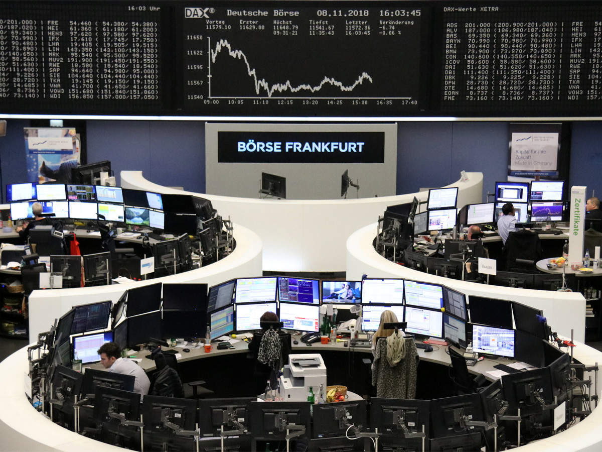 European shares trudge higher as stimulus wave stems selloff
